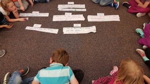 """""""How does the sun's power get into you?"""" Using the QFT to Explore Energy with First Graders"""