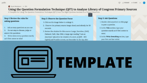 Template: Make Your Own QFT with Padlet